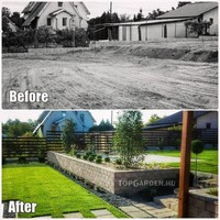 Before, after garden