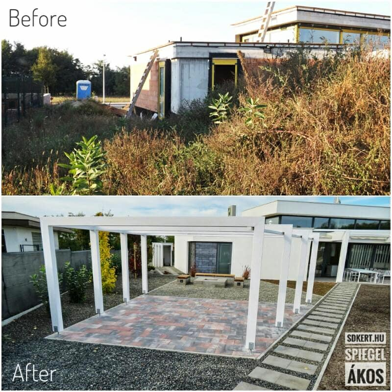 Before after garden