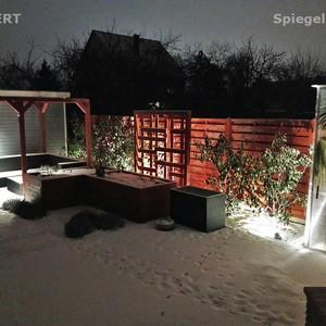 Kerti világítás, kertépítés télen