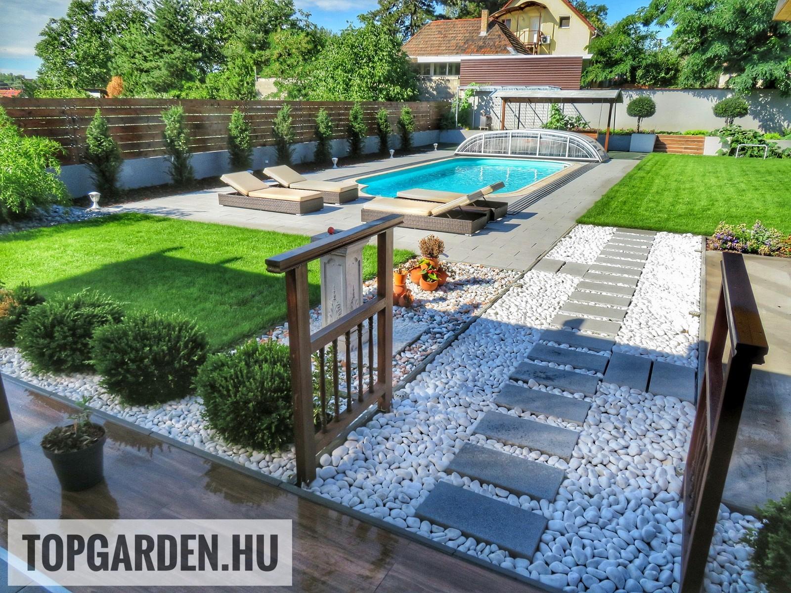 Modern kert, kerti medence